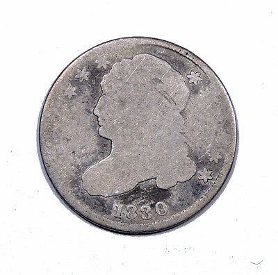 1830 Capped Bust Dime Average Circulated Condition 10c silver