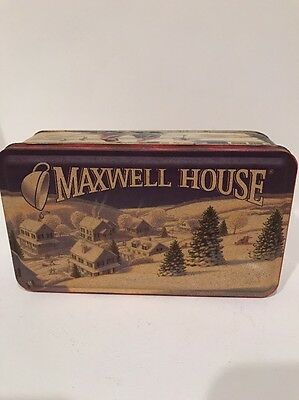 Maxwell House Coffee Winter Collectors Tin Holiday Roast