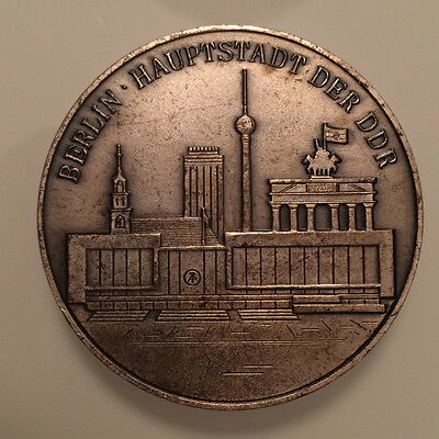 Berlin East German 750th Anniversary Table Medal Coin TV Tower Communist Germany