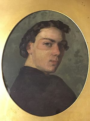 antique 19th century oil paintings German Portrait Of A Gentleman On Board