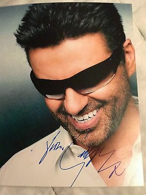 George Michael Signed Autograph  8 X 10 Photo