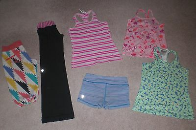 Lot of Girls Ivivva by Lululemon Pants, Crops, Shorts and 3 Tank Tops sz 6
