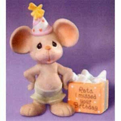 """Precious Moments """"Rats I missed your birthday"""""""