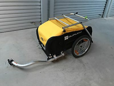 Burley Nomad Bicycle Trailer With Nomad Cargo Rack + Spares