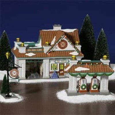 Department 56 Snow Village Rocky's 56 Filling Station