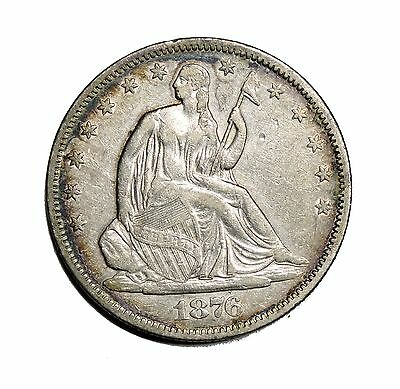1876-S Liberty Seated Half Dollar Almost Uncirculated Condition 50c