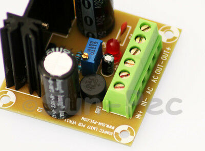 LM317 1000UF Power Supply Board AC/DC in 3.5V-35V DC out 1.25V-32V Arduino