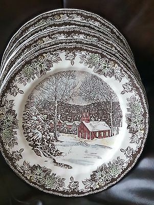 Johnson Brothers The Friendly Village Dinner Plate Set of 8 New