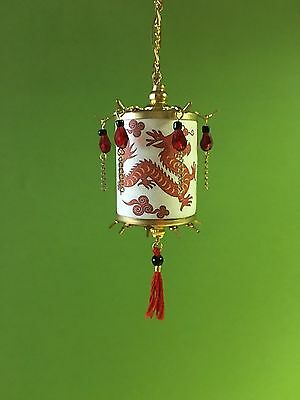 Dollhouse Miniature Handcrafted Chinese Oriental Lantern Lamp 12V 1:12 Scale