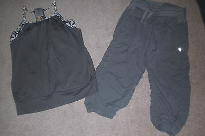 Lot of Girls Ivivva by Lululemon Dance Crops and Tank sz 10
