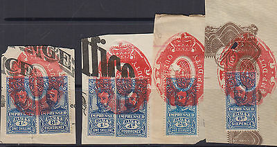 QLD 1920 GV IMPRESSED DUTY-Revenue- Elsmore Cat $15++(4 pieces)