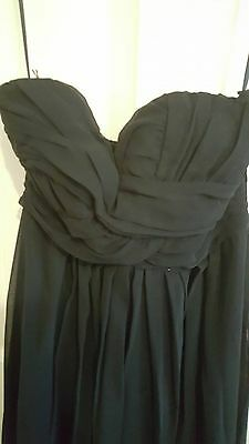 Esther Boutique Black Sleeveless Maxi Dress Size 8 Women's Beautiful Condition