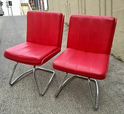 2 Bellissime Poltrone Sedie In Scai Rosso Design Anni 80 Chair Fauteuil Armchair