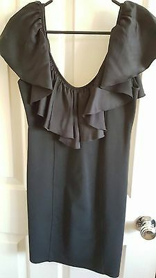 Women's Backstage Dress Black with Frill Good Used Condition Size 8