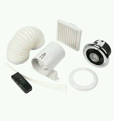 100mm MANROSE EXTRACTOR FAN LED SHOWERLIGHT BATHROOM FAN SHOWERFAN KIT LEDSLKTC