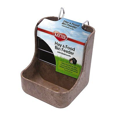 *Hay & Food Bin Feeder* Rabbit Chinchillas Guinea Pig Small Animal Hook On Cage