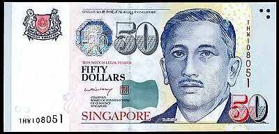 Singapore. 50 Dollars, 1HW108051, (2002), Almost Uncirculated.