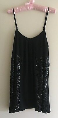 Noughts And Crosses Little Black Sparkle Womens Dress - Size 10