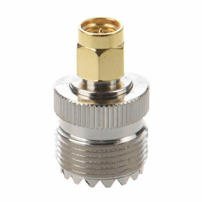 UHF SO-239 SO239 Female to SMA Male Plug Connector Coaxial Adapter