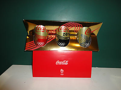 Coca cola  2016 Olympics  set of 3 in staff only box  from New Zealand
