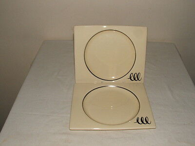 Clarice Cliff Art Deco Bizarre  Biarritz  Loops Design Plates Truly Stunning