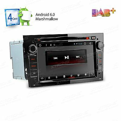 "Black 7"" Android 6.0 Car Dvd Player Gps Sat Nav Dab+ Opel Vauxhall Astra H Corsa"
