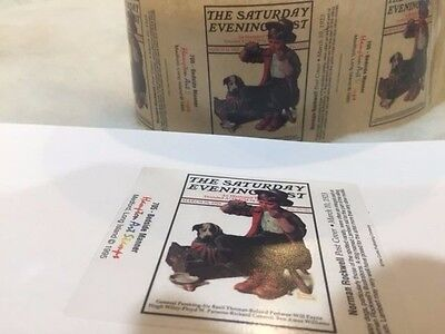 * 50 PCS VINTAGE Saturday Evening Post March 10 1923 Norman Rockwell STICKER