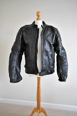 mens leather motorcycling suit (jacket and trousers)