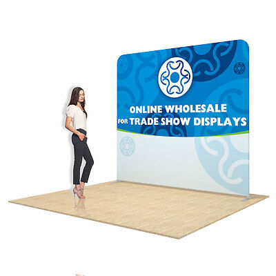8ft Straight Fabric Display Wall Trade Show Display + Graphic Included 1 Sided