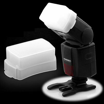 Bounce Flash Diffuser Soft Cap Box for Canon Speedlite 580EX II Yongnuo YN560 US