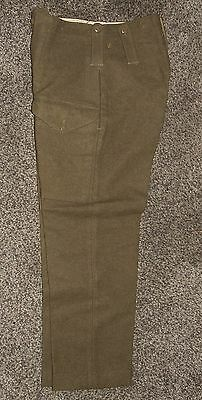 Original 1943 Dated US Made British Army 1940 Pattern Battledress Trousers