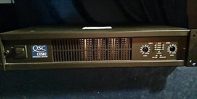 QSC cx502 pro install power amp 500w x2 @ 4 ohms powerlight very GD condition