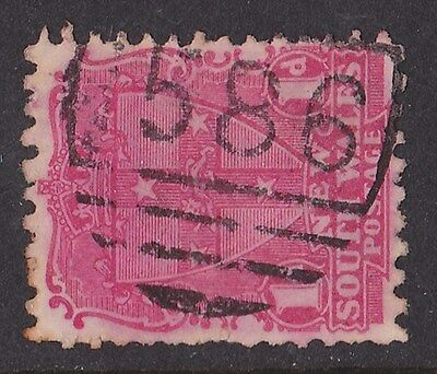 New South Wales : Postmark Numeral 1586 of Picton Lakes (RRR).