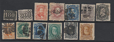 Brazil - 13 early used stamps