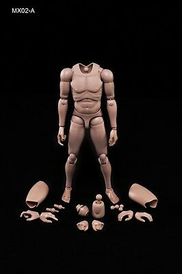 "1/6 Scale MX02-A Europe Skin Men's Body Fit for 12"" Male Figure Model Toy"