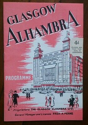 1952 Alhambra Theatre Glasgow Programme/the Constant Wife