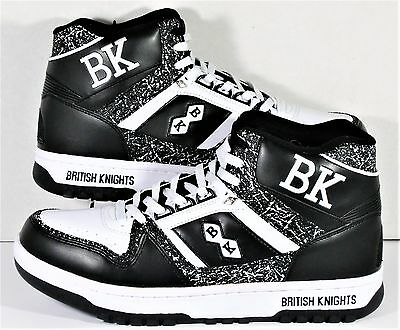 check out 15910 c58fa British Knights BK Retro Basketball High Top Mens Sneakers Shoes Sz 12 NEW