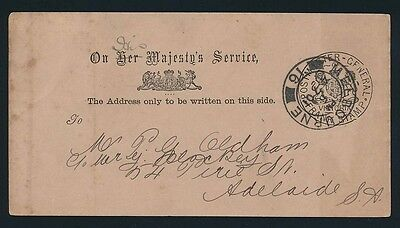 VICTORIA Frank Stamp 1901 Postmaster - General on Postcard