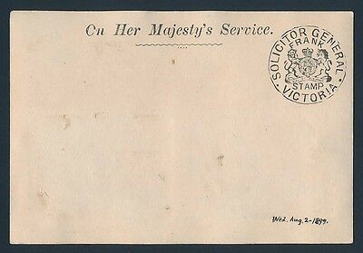 VICTORIA Frank Stamp Solicitor General on Postcard