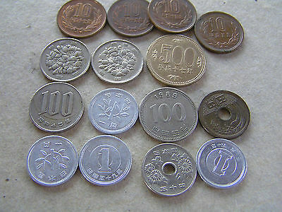 15 old Asia coins from China Taiwan Korea ? countries as scan,