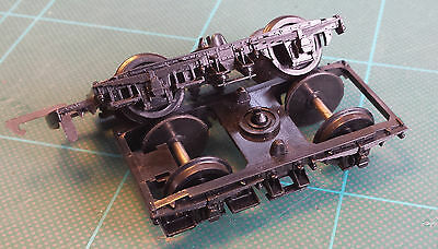 Pair of '00' Coach Bogies. Probably by Airfix.