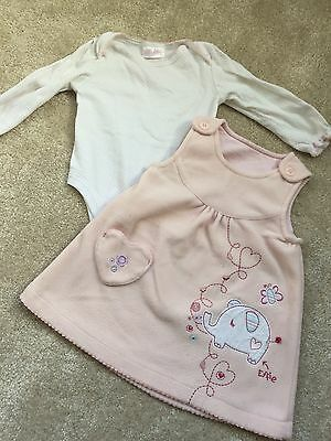 Baby Girls 2 Piece Dress Outfit - Age 9-12 Mths