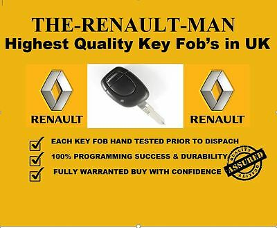 1 Button Remote Key Fob suitable for Renault Kangoo 2002-2007 ready to program