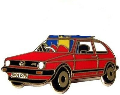 NEW VW GOLF GTI BADGE VOLKSWAGAN HOT HATCH RALLYING 70s 80s RARE OLD SCHOOL COOL