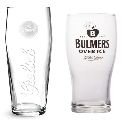 Set of 6 / 12 Bulmers & Grolsch Glasses Pint Lager Cider Beer Pub Drinking Glass