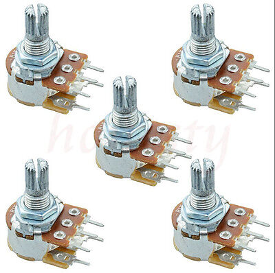 3/5/10Pcs B10K 10K Ohm Adjustment Single Linear Rotary Potentiometer New