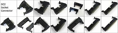 DC2-10P 14P 16P 20P 26P 30P 40P 50P Ejector Header IDC Connector 2.54mm New