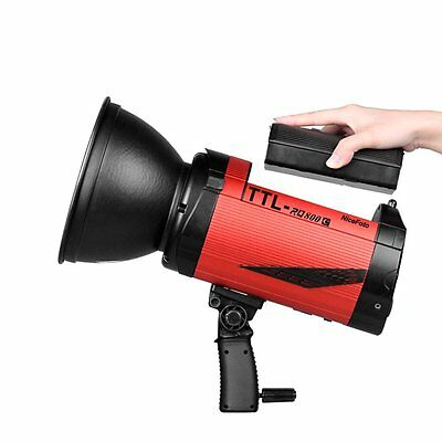 Nicefoto RQ800C 2.4G TTL HSS Studio Strobe Flash Light Li-ion Battery for Canon