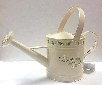 3L Cream Tin Watering Can Shabby Chic BNWT