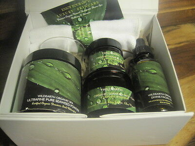 Organic Seaweed, Dead Sea Mud, Rosehip Oil -  Facial Spa Treatment Gift Set